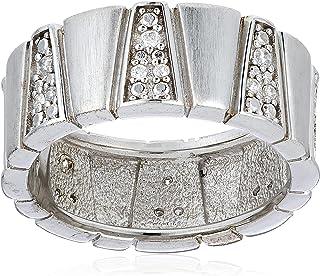 خاتم دلتا ESRG91330A170 من الفضة الاسترلينية 926 مرصع باحجار زركونيا مكعبة من اسبريت مقاس M