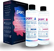 Epoxy Lab - 2 Part Epoxy Resin Crystal Clear - Special Arts & Crafts, Jewellery, Tumblers, DIY - 16oz Classic Kit