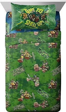 Nickelodeon Teenage Mutant Ninja Turtles 'Cross Hatching' Soft Microfiber Full 4 Piece Sheet Set