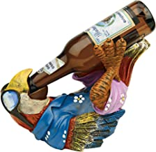 Design Toscano HF308507 Beer Buddy Tropical Tiki Parrot Bottle Holder Statue, 10 Inch, Polyresin, Full Color