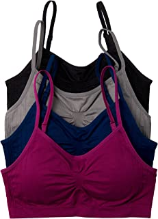 4 Pack Nylon Spandex Removable Pads Comfort Seamless Bras
