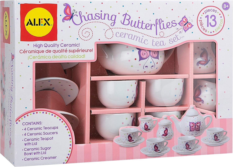 presentando toda la última moda de la calle Alex Juguetes Persiguiendo Mariposas cerámica Juego de té té té  los últimos modelos