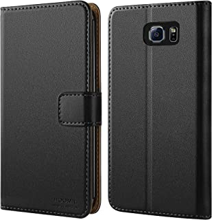 HOOMIL Case Compatible with Samsung Galaxy S6 Edge, Premium Leather Flip Wallet Phone Case Cover for Samsung Galaxy S6 Edge Smartphone(NOT Fit for Samsung S6 Edge+ Plus 5.7-inch)