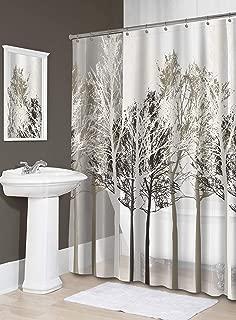 Splash Home Peva 5G Forest Shower Curtain Liner Design for Bathroom Showers & Bathtubs-Free of PVC Chlorine & Chemical Smell-100% Waterproof, 70 X 72