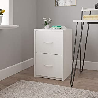 Ameriwood Home Core 2 Drawer, White File Cabinet