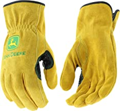 West Chester JD00004 John Deere Leather Gloves – X Large Size Split Cowhide Work..