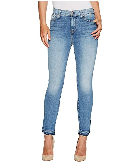 779fc440666 7 For All Mankind The High Waist Ankle Skinny Jeans w/ Side Split Released  Hem in Vintage Air Classic