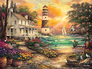 Best Buffalo Games - Chuck Pinson - Cottage By The Sea - 1000 Piece Jigsaw Puzzle Review