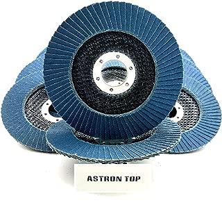 Astron Top Premium Zirconia Flap Disc, 4.5 x 7/8 Inch, 10-Pack, 120 Grit, Grinding Wheel, FDZ45P120B