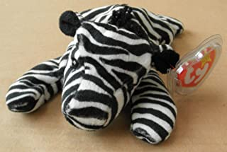 TY Beanie Babies Ziggy the Zebra Stuffed Animal Plush Toy - 6 inches long - Black/White Stripes