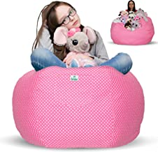 Kroco Stuffed Animal Storage Bean Bag Cover - Toy Beanbag Storage - Replace Toys Boxes, Hammock Net for Kids Room- Store C...