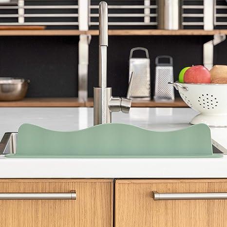 Blue Ginkgo Sink Splash Guard Premium Silicone Water Splash Guard For Kitchen Bathroom And Island Sinks
