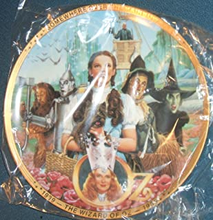 """The Wizard of Oz: Fifty Years of Oz Collector's Plate """"Somewhere Over the Rainbow"""" 1939-1989"""