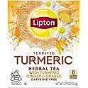 4-Pack Lipton Herbal Tea Bags, Terrific Turmeric (15-Count)