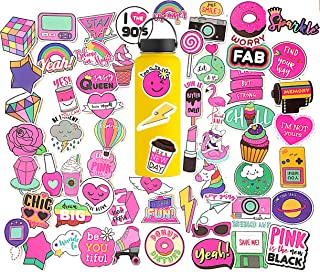 Sikravul Girl Cute Lovely Stickers for Water Bottles Laptop Skateboard Motorcycle Phone Bicycle Luggage Guitar Bike Sticker Decal 60pcs Pack