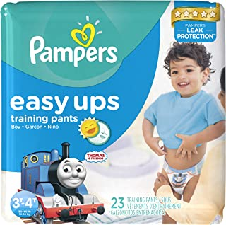 Pampers Easy Ups Training Pants Boys 3T/4T (Size 5), 23 Count (Old Version)
