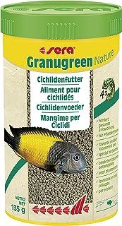 Sera Granugreen Nature, Cichlid Fish Food 4.7 oz 250 ml, Multi Colour