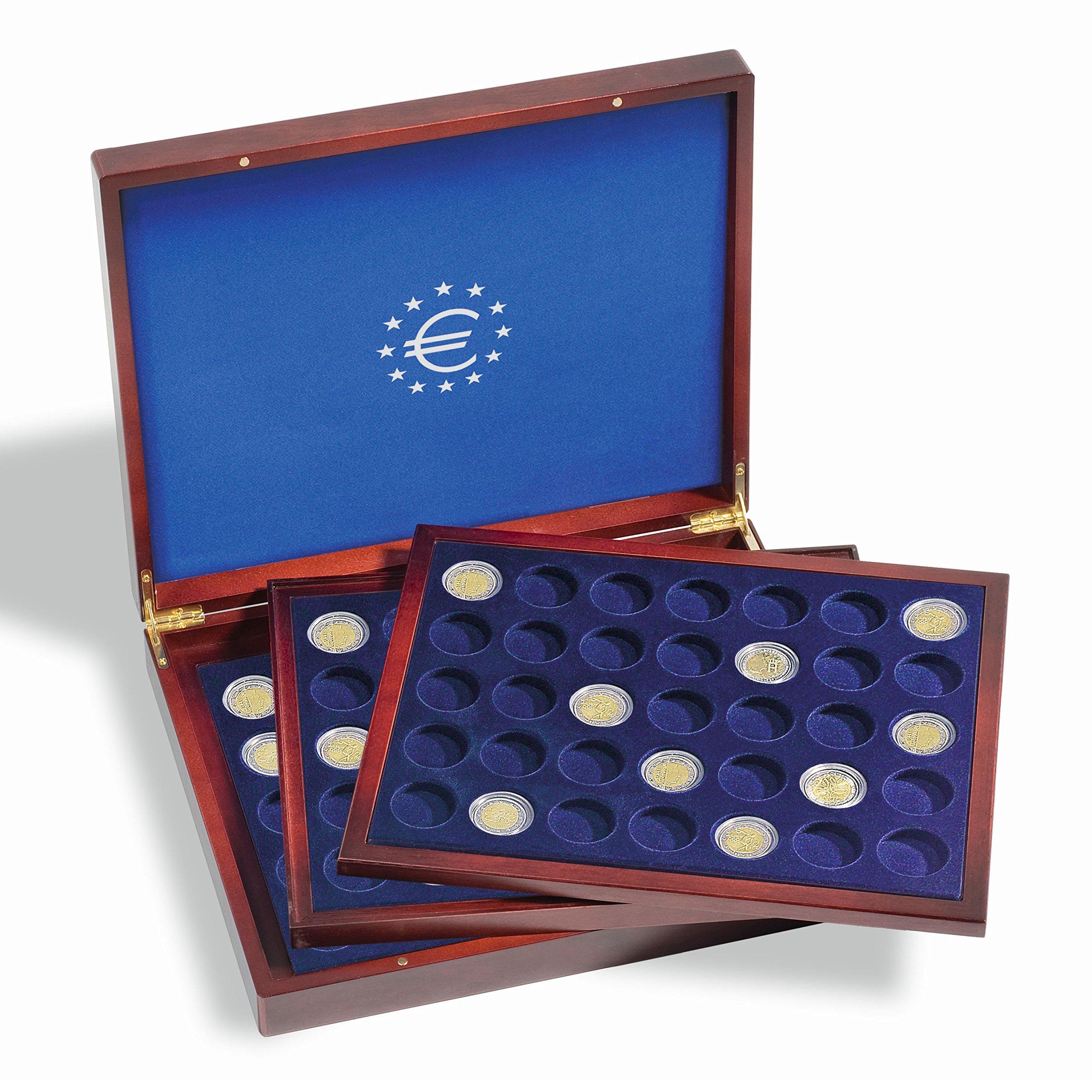 Leuchtturm 303369 Estuche para Monedas VOLTERRA Trio de Luxe, Cada una para 35 Monedas de 2? en cápsulas: Amazon.es: Juguetes y juegos
