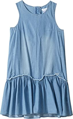 Chloe Kids Denim Effect Sleeveless Dress From Adult Collection (Big Kids)