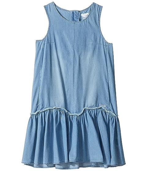 Chloe Kids Denim Effect Sleeveless Dress From Adult Collection (Big Kids)