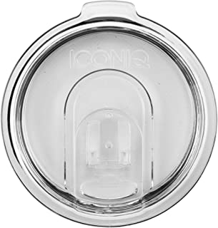 Replacement Lid with Retractable Sip Hole Cover for 20 Oz (Ounce) Insulated Tumblers | Straw Ready (Clear)