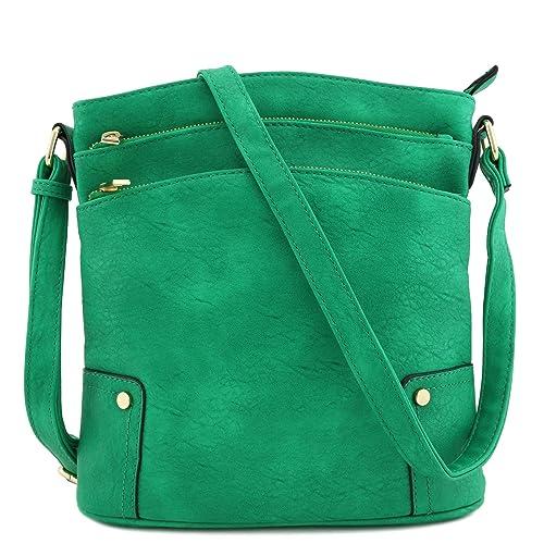 0b36f25908aac Triple Zip Pocket Large Crossbody Bag