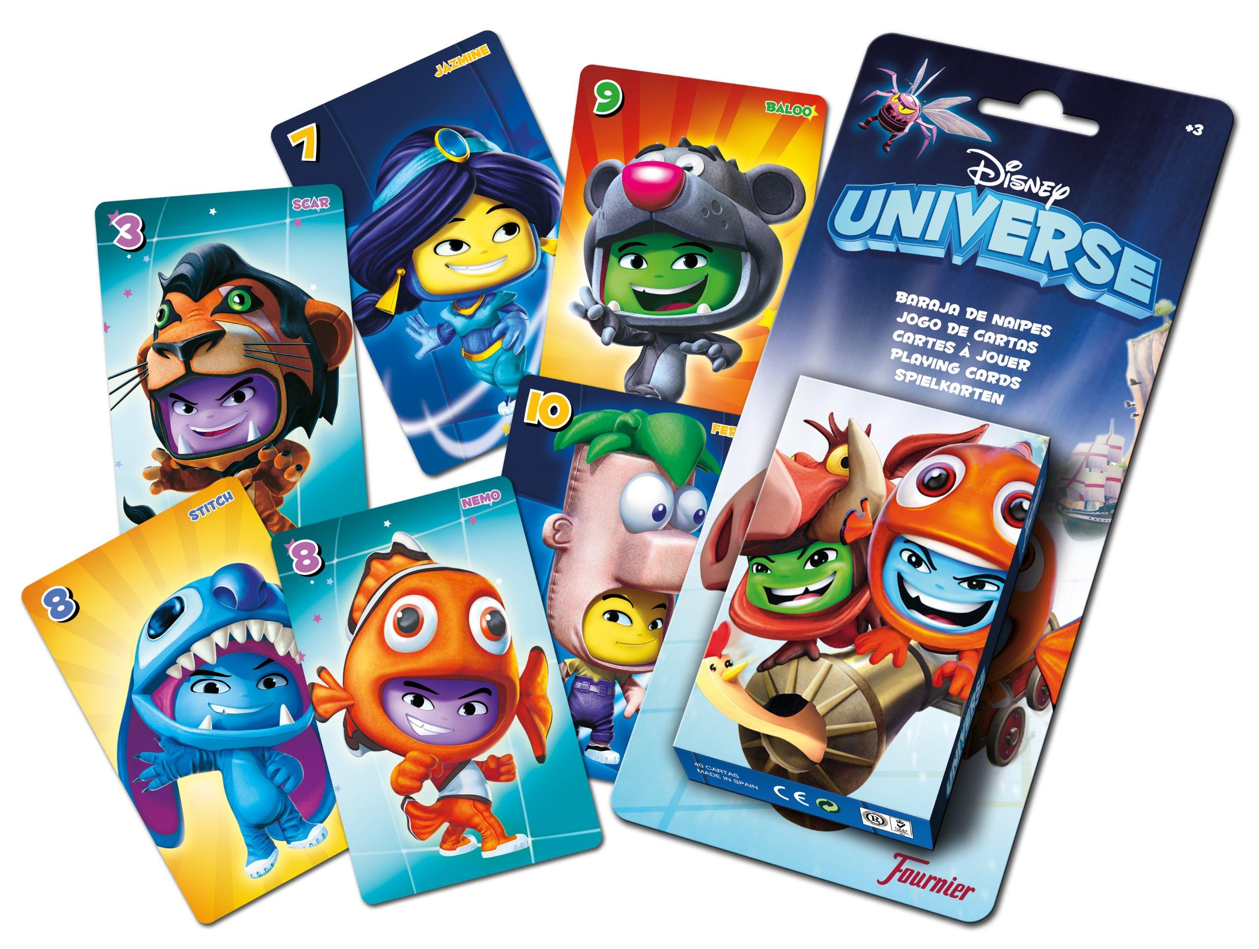 Fournier 43478 - Juego de Mesa Disney (43478) (Importado) - Cartas Disney Universe, Juguete Juego de Mesa A Partir de 6 años: Amazon.es: Juguetes y juegos
