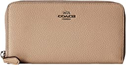 COACH - Pebbled Accordion Zip Wallet