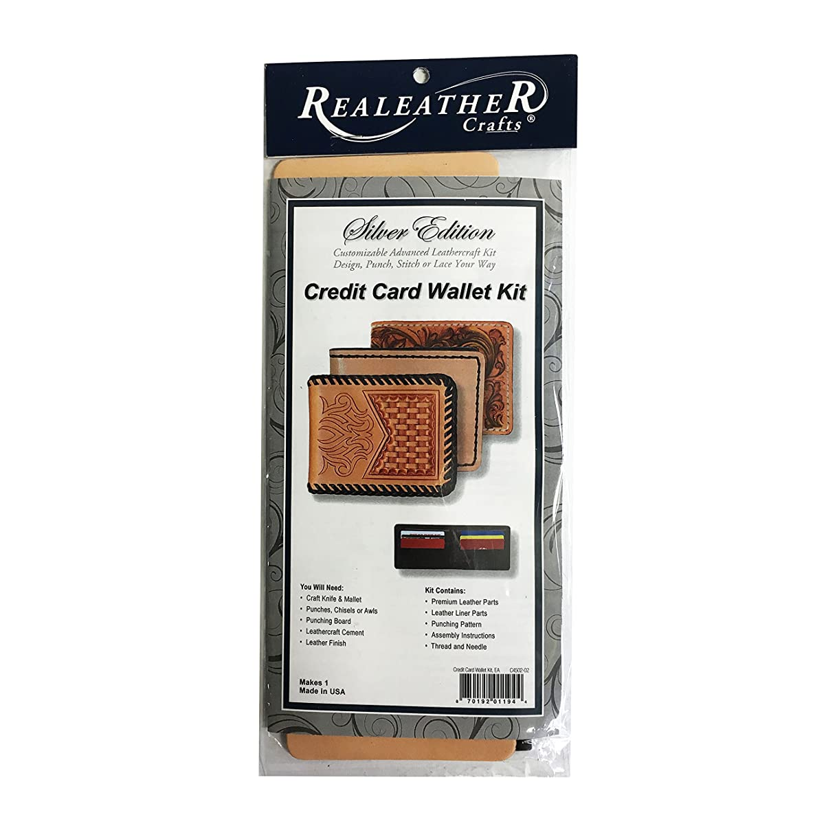 Realeather Silver Edition Credit Card Wallet Kit Leather Craft Kit