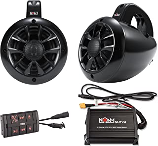 NOAM NUTV4 – Marine Bluetooth ATV/Golf Cart/UTV Speakers Stereo System
