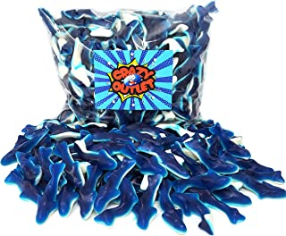 CrazyOutlet Pack - Blue Baby Sharks Gummy Candy, Bulk Pack, 2 lbs