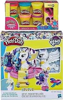 PD Play-Doh My Little Pony Canterlot Court Play Set + Play-Doh Sparkle Compound Bundle