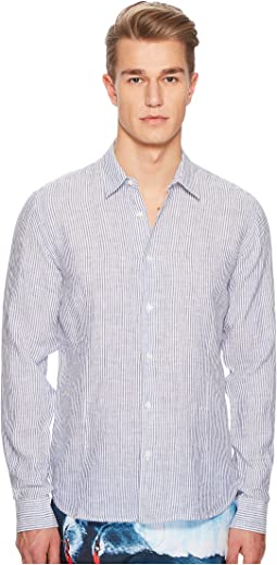 Morton Long Sleeve Linen Stripe Shirt