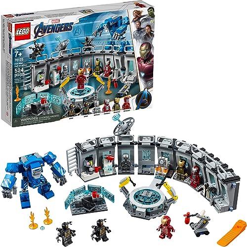 LEGO Marvel Avengers Iron Man Hall of Armor 76125 Building Kit Marvel Tony Stark Iron Man Suit Action Figures (524 Pi...