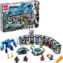 LEGO Marvel Avengers Iron Man Hall of Armor 76125 Building Kit - Marvel Tony Stark Iron Man Suit Action Figures (524 Pieces)