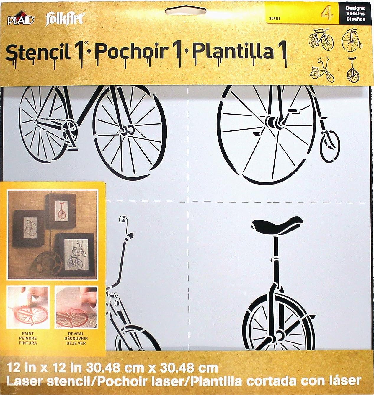 FolkArt Laser Stencil, 30981 4 Bikes