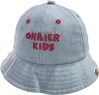 قبعة قابلة للطي للأطفال من LFNOWN ، قبعة من القطن الدنيم المسامي ، قبعة شمس للبنات الأولاد 2-6 سنوات قبعات سمك زرقاء