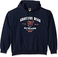 Liquid Blue Men's Grateful Dead Chicago Soldier Field 1995 Tour Pullover Hooded Sweatshirt