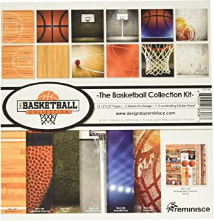 basketball court scrapbook paper