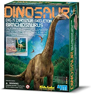 4M Fun Science Kidz Labs / Brachiosaurus Skeleton Excavation Educational Toys , 5603237