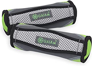 Gaiam Hand Weights for Women & Men Soft Dumbbell Walking Hand Weight Sets with Hand Strap - Walking, Running, Physical The...