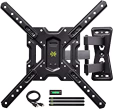 """USX MOUNT Full Motion Swivel Articulating Tilt TV Wall Mount Bracket for 26-55"""" LED, OLED and 4K TVs, TV Mount Fit for 32, 40, 50 TV with VESA Up to 400x400mm-Weight Capacity Up to 60lbs"""