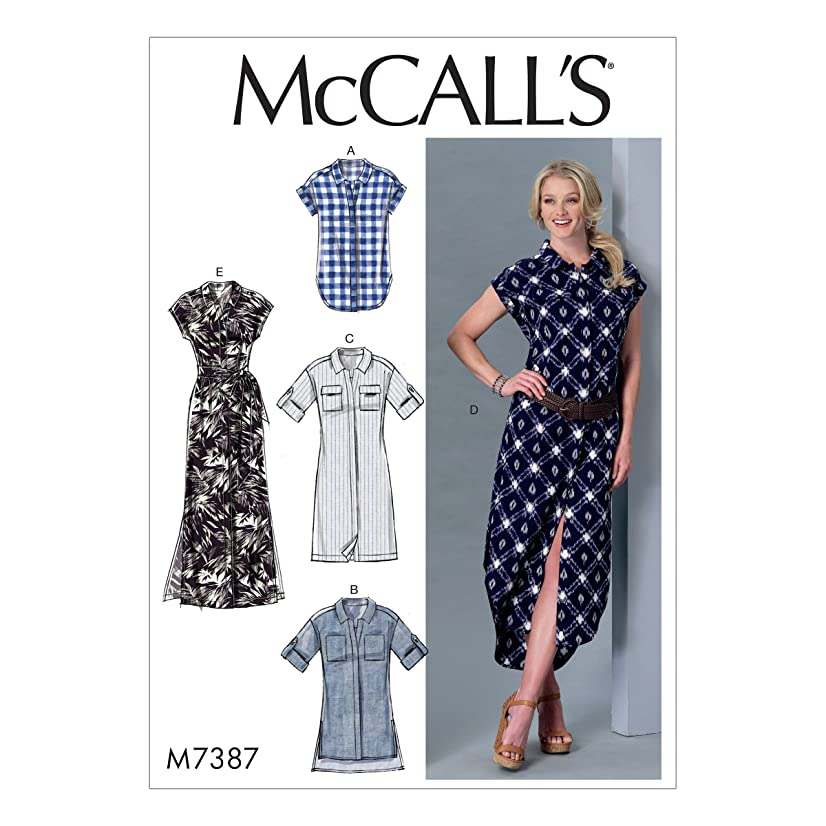 McCall's Patterns M7387ZZ0 Button-Down Top, Tunic, Dresses and Belt