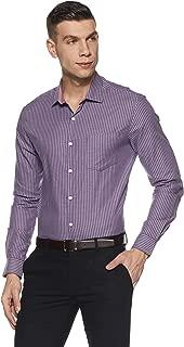 Excalibur by Unlimited Men's Striped Regular Fit Formal Shirt