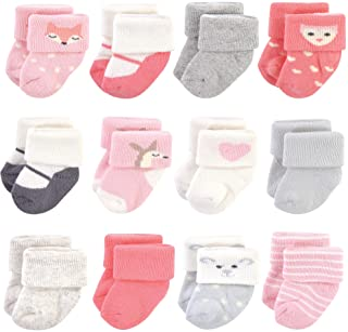 Hudson Baby Unisex Cotton Rich Newborn and Terry Socks