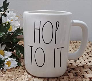 Hop To It Rae Dunn Coffee Mug Artisan Collection by Magenta - Easter