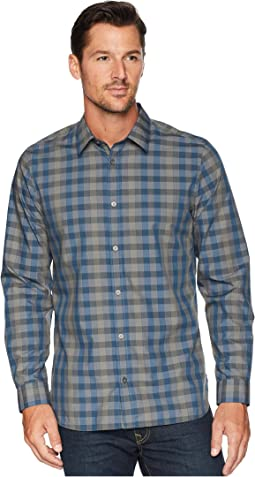Heather Melange Plaid Sport Shirt