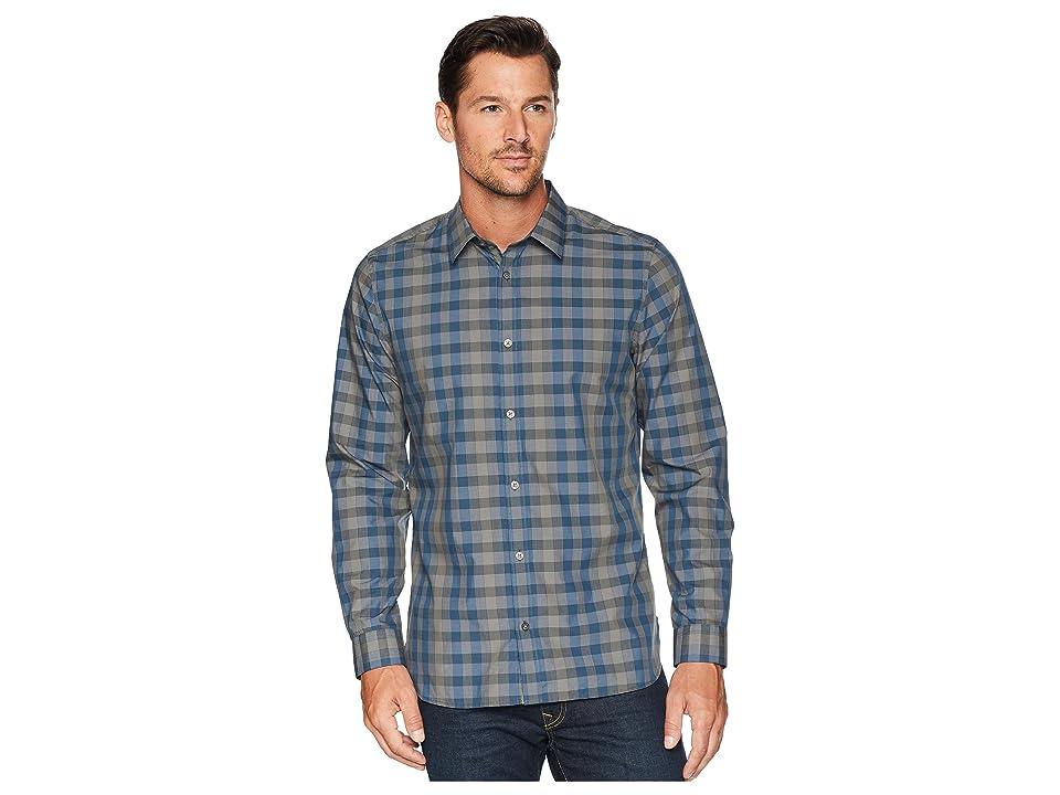 Calvin Klein Heather Melange Plaid Sport Shirt (Oak Leaf) Men
