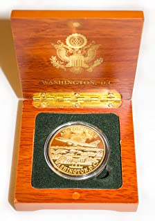 Presidential Souvenirs Air Force One Coin in Wood Box
