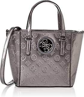 GUESS Women's Open Road Mini Tote, Pewter - PY718677